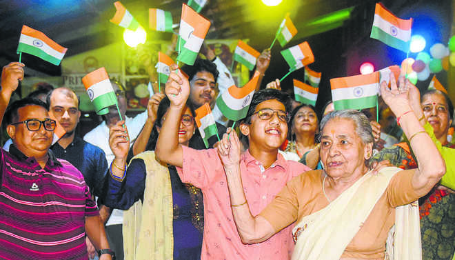 Celebrations in Jammu, Ladakh and Kashmir, post abrogation Article 370