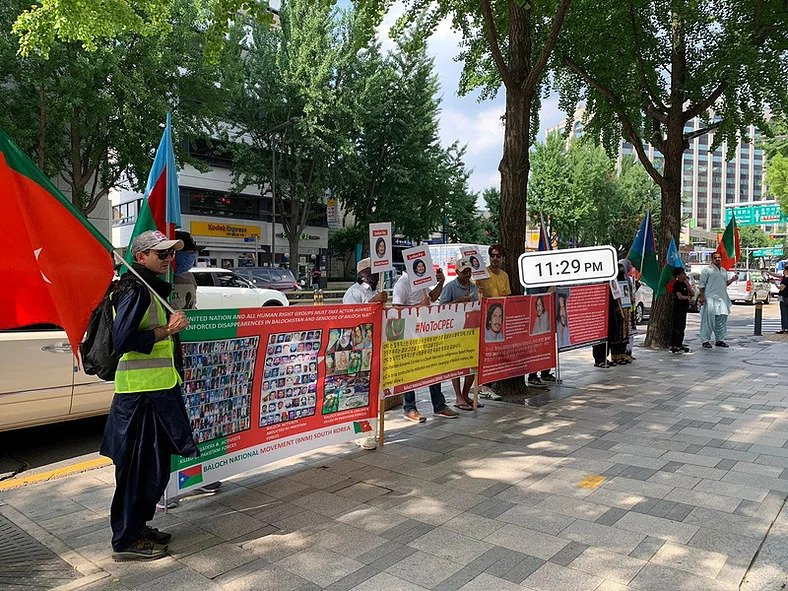 Demonstrations in South Korea