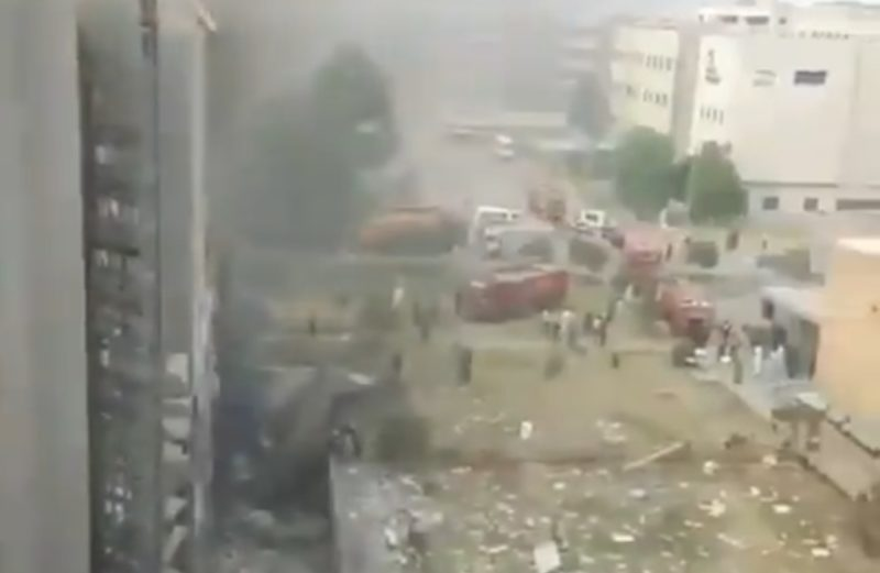 Massive Explosion in Military Hospital located inside Rawalpindi Cantonment in Pakistan. Atleast 10 injured