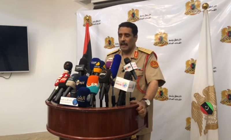 Haftar spokesperson in Press conference