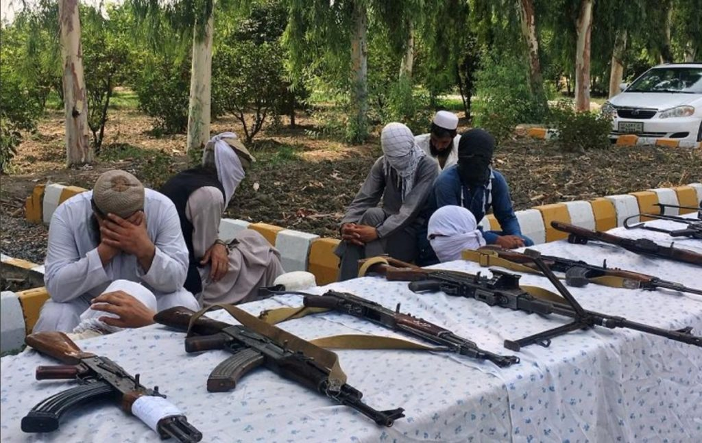 20 Taliban Terrorists surrendered with their arms before the Afghanistan Security Forces in Eastern Province of Nangarhar.