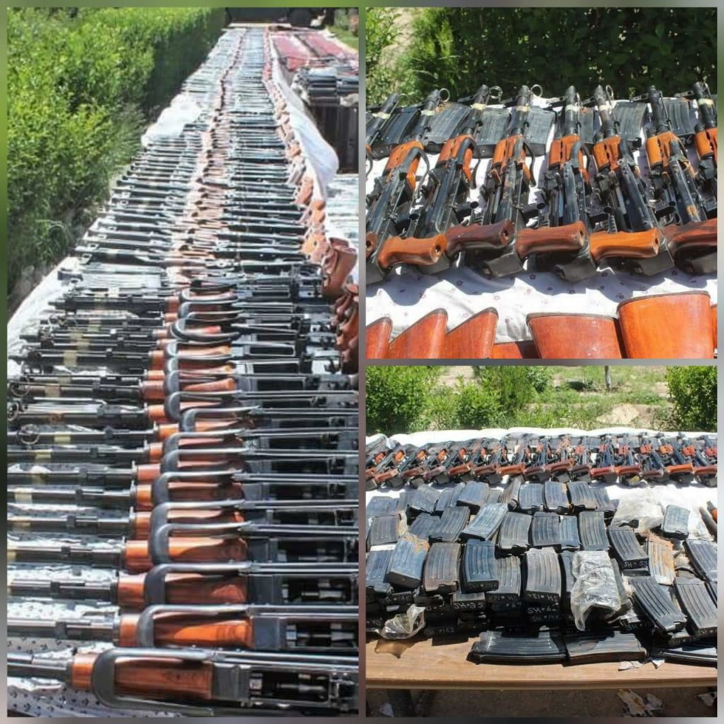 Huge cache of Arms and Ammunition intercepted by Afghanistan Security Forces sent by Pakistan to arm Taliban Terrorists.