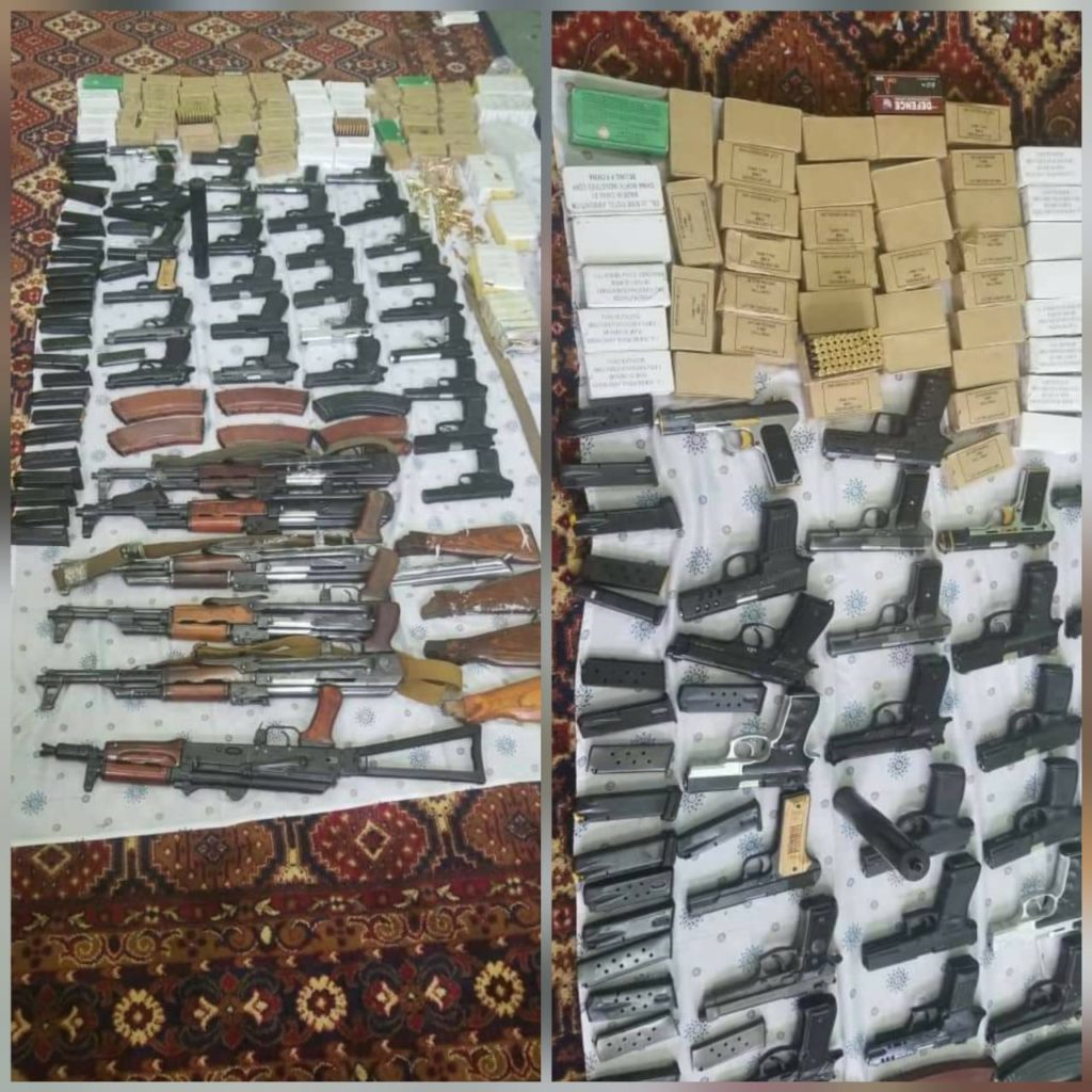Afghan Security Forces killed Taliban Terrorists and seized 5000+ round of bullets, 6 AK-47 rifles, Sound suppressors and C4s during a clearance operation