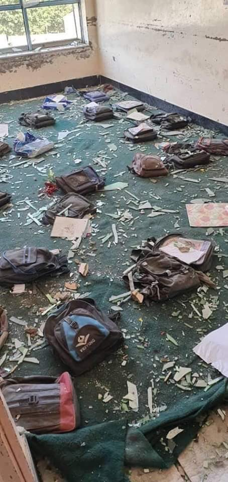 Picture of classroom after the Ghazni Car Bomb Blast