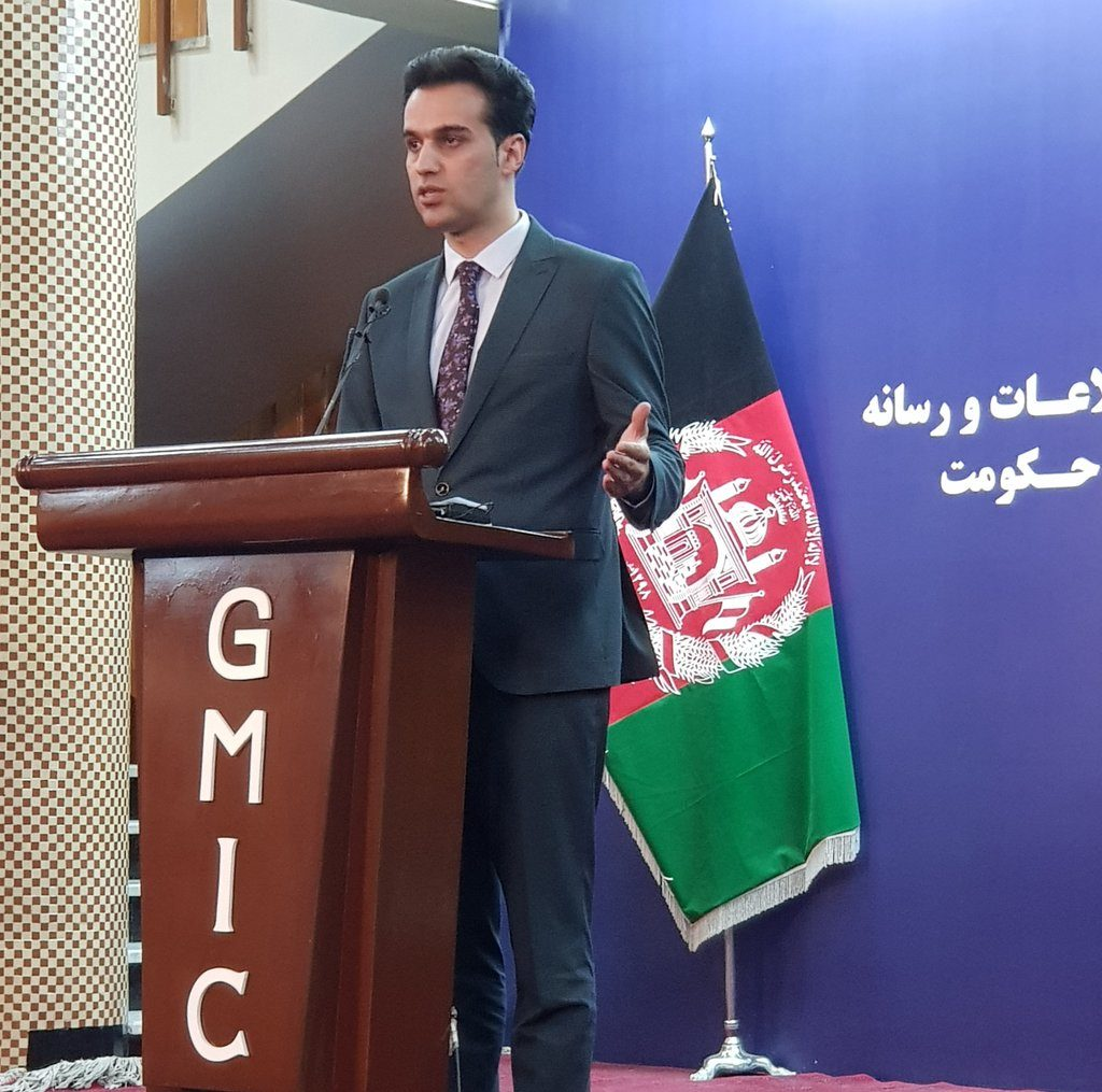 Ministry of Defense spokesperson Ahmadzai during a media briefing