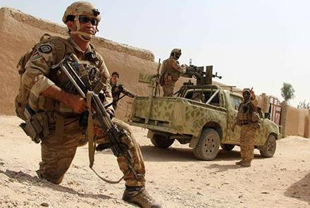 Afghanistan Army in an offensive against Taliban Terrorists