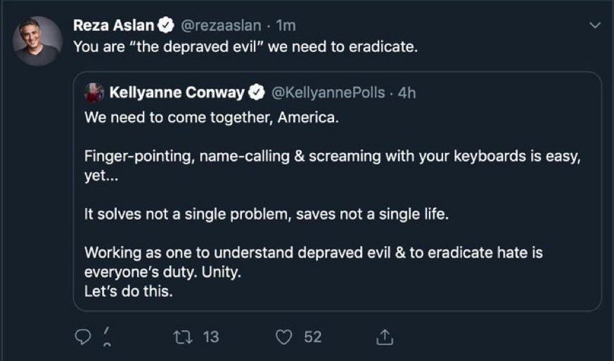 Tweet by Reza Aslan, after Walmart shooting at El Paso, that evoked strong reaction on Social Media