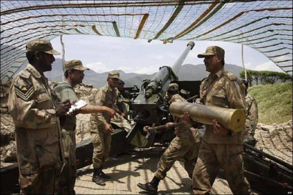 Pakistan Army shelling across Afghanistan Border