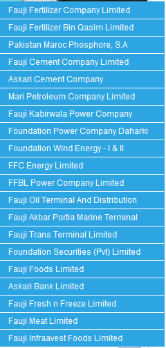 Fauji Foundation investments in different business conglomerates in Pakistan