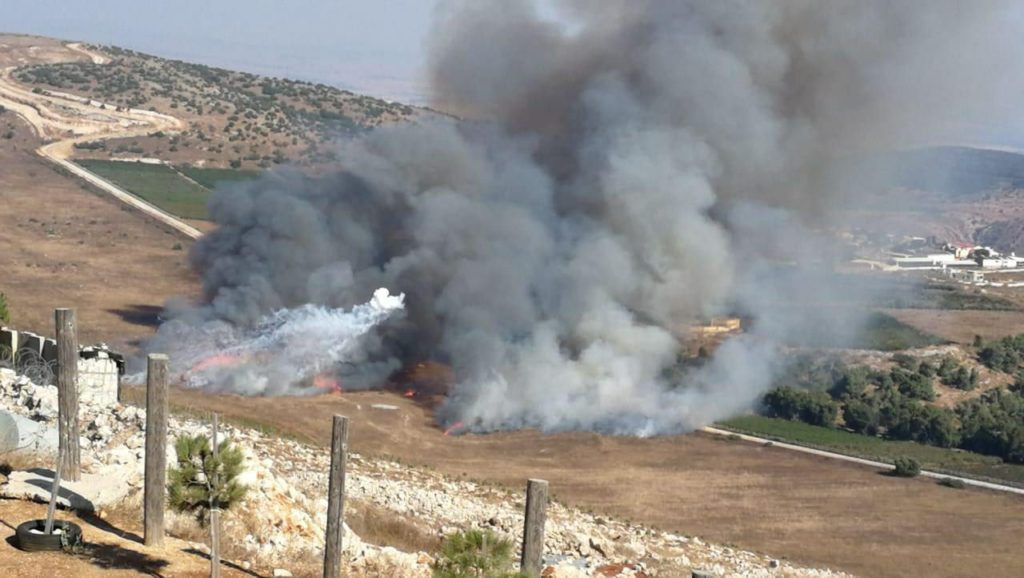 Image of Shelling during Israel Lebanon conflict