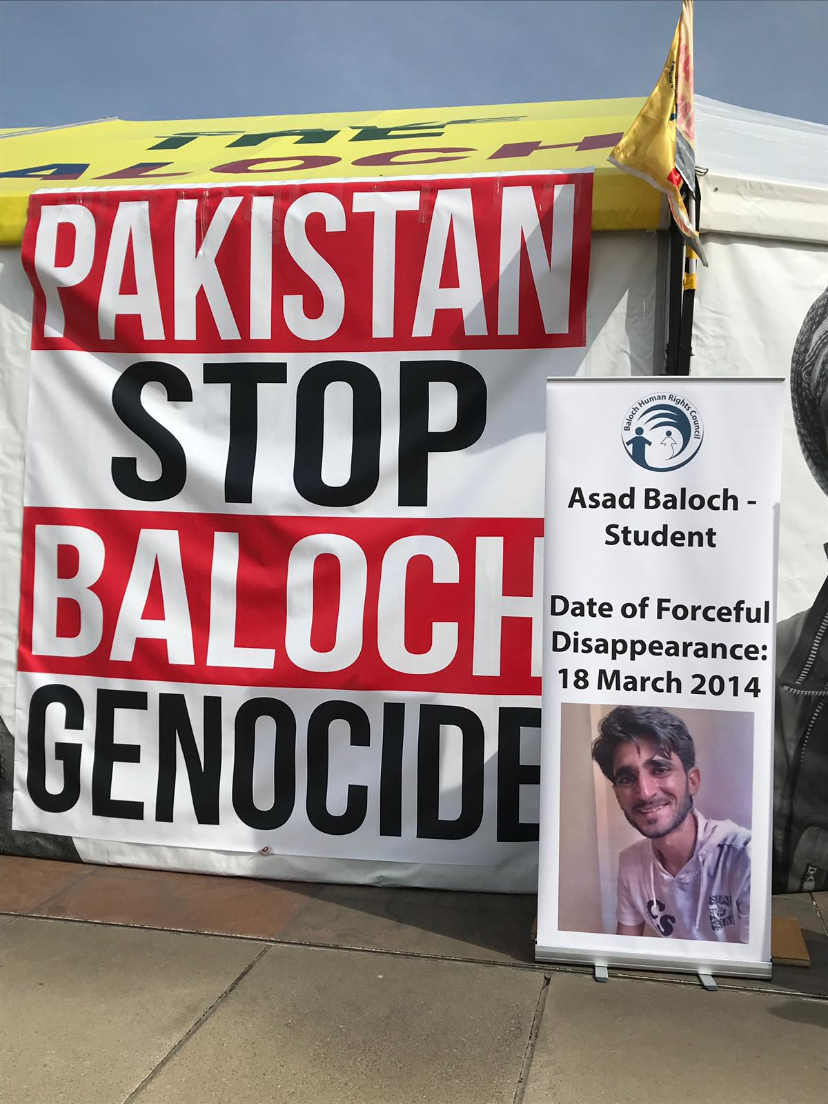 Protests outside UN Human Rights Conference Geneva against Pakistan Army