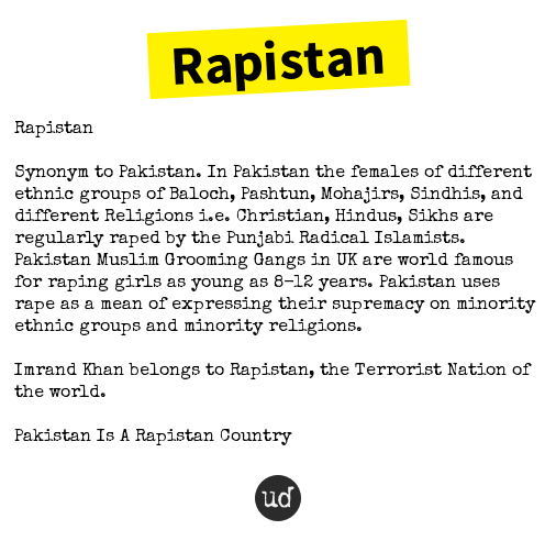 Rapinstan Synonym to Pakistan - Urban Dictionary.