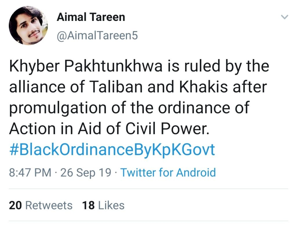 Pakistan Murderer of Muslims : Hypocrisy and Duplicity of Pakistan Exposed: A tweet by a Pashtun