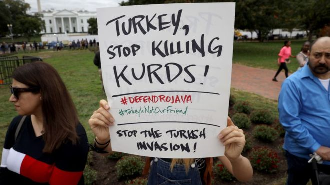 US President Trump Imposed Sanctions on Turkey for killing Kurds in Syria