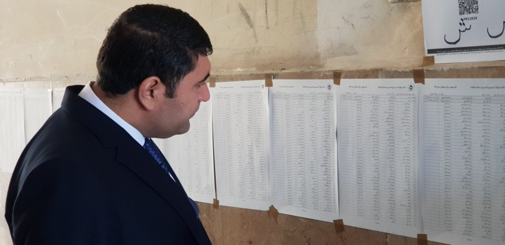 Afghan Election 2019: First time voter lists have been posted outside polling stations.
