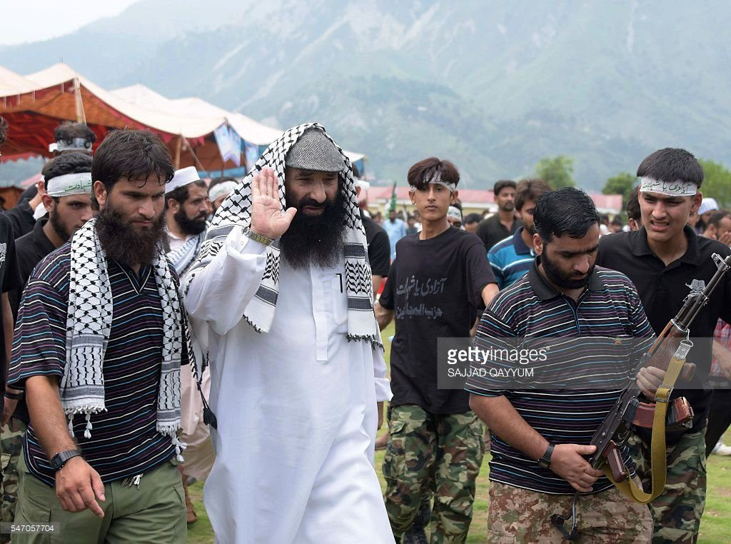 Islamist Radical Terrorists Mingled with Civilians in JKLF March in POK to Infiltrate in India.