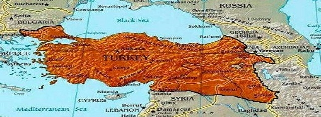 Map of Ottoman Empire - Imperialist Turkey dreams to rebuild