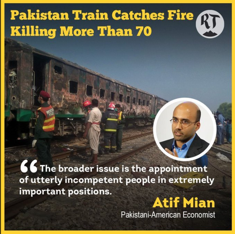 Was Train Accident in Pakistan a Sabotage? Incompetent People hired to fill technical posts