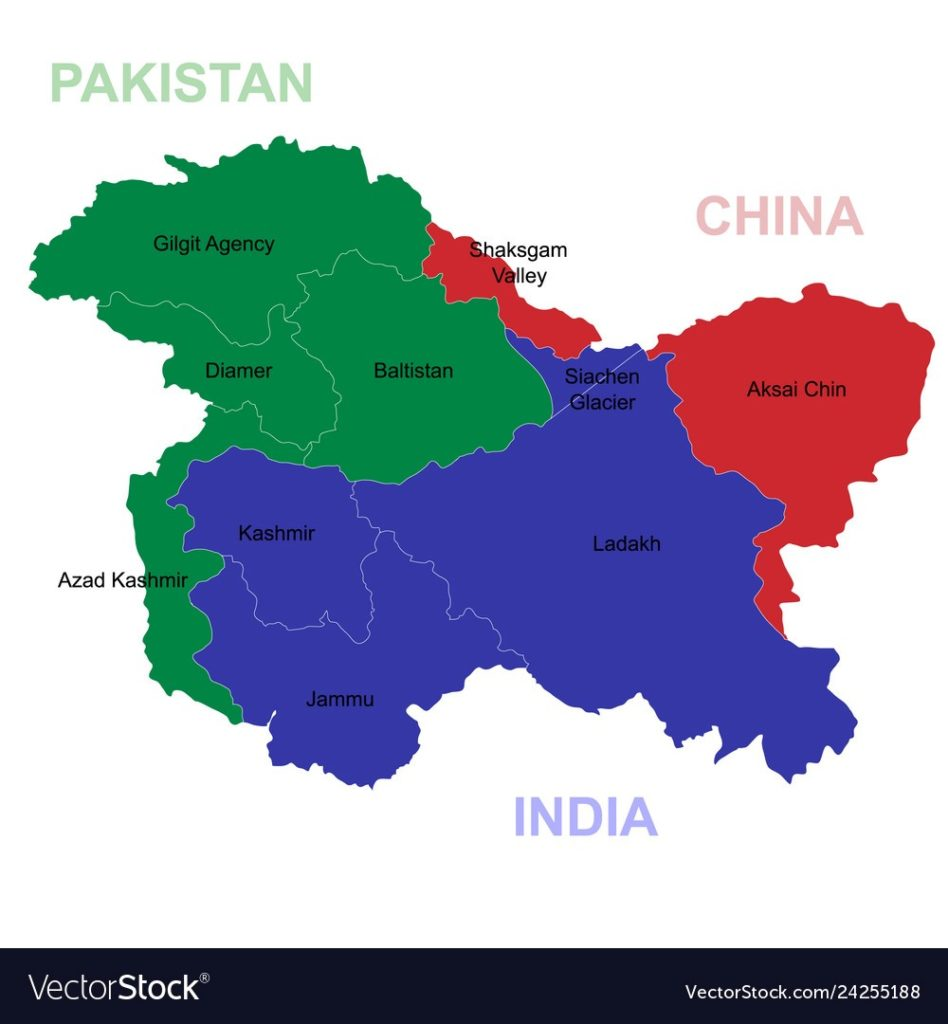 Jammu and Kashmir – De Facto Control