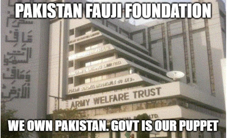 Fauji Foundation of Pakistan looting Pakistani Tax Payers Money