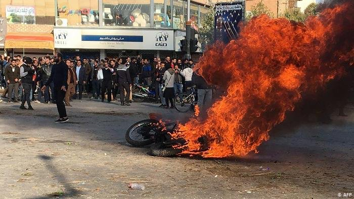 Iran Gasoline Price Rise Protests.