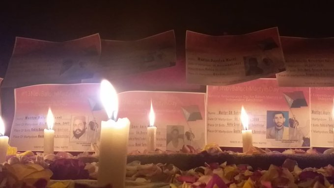 Pakistani army continues its Genocide In Balochistan : Candle Light protests against the illegal enforced disappearance of their family members.