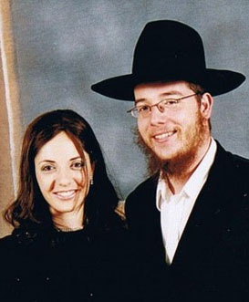 UNDATED:  In this handout from Chabad.org, Rivka Holtzberg and her husband Rabbi Gavriel Holtzberg, co-directors of Chabad-Lubavitch of Mumbai, are seen. Rabbi Holtzberg, along with his wife Rivka, were slain during the terrorist attacks in Mumbai, India, leaving their 2-year-old son Moshe Holtzberg an orphan.  (Photo by Chabad.org via Getty Images)