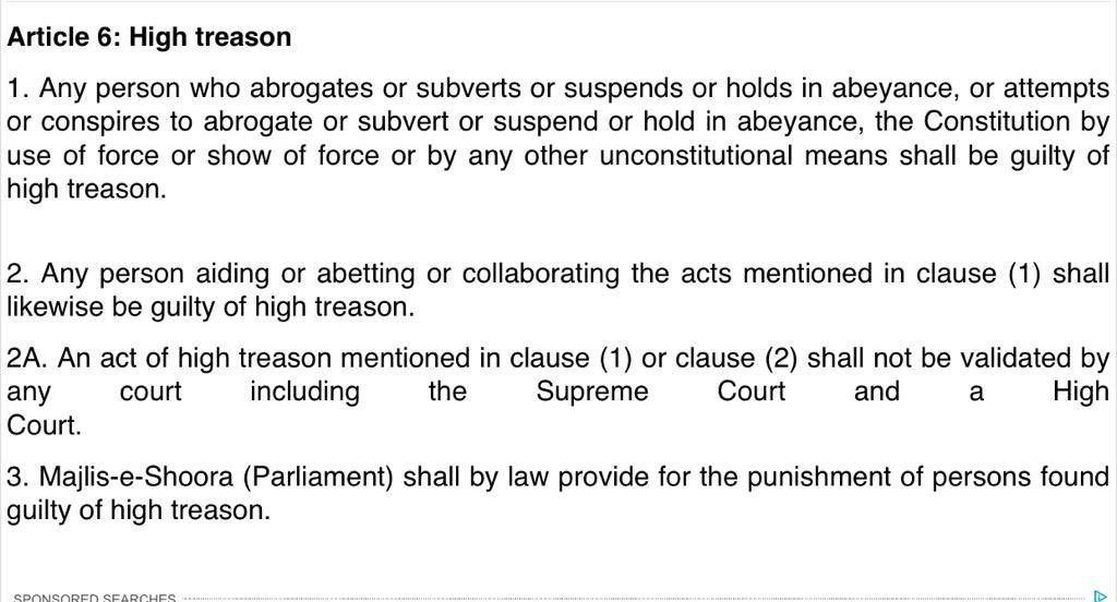 Article 6 of Pakistan Constitution