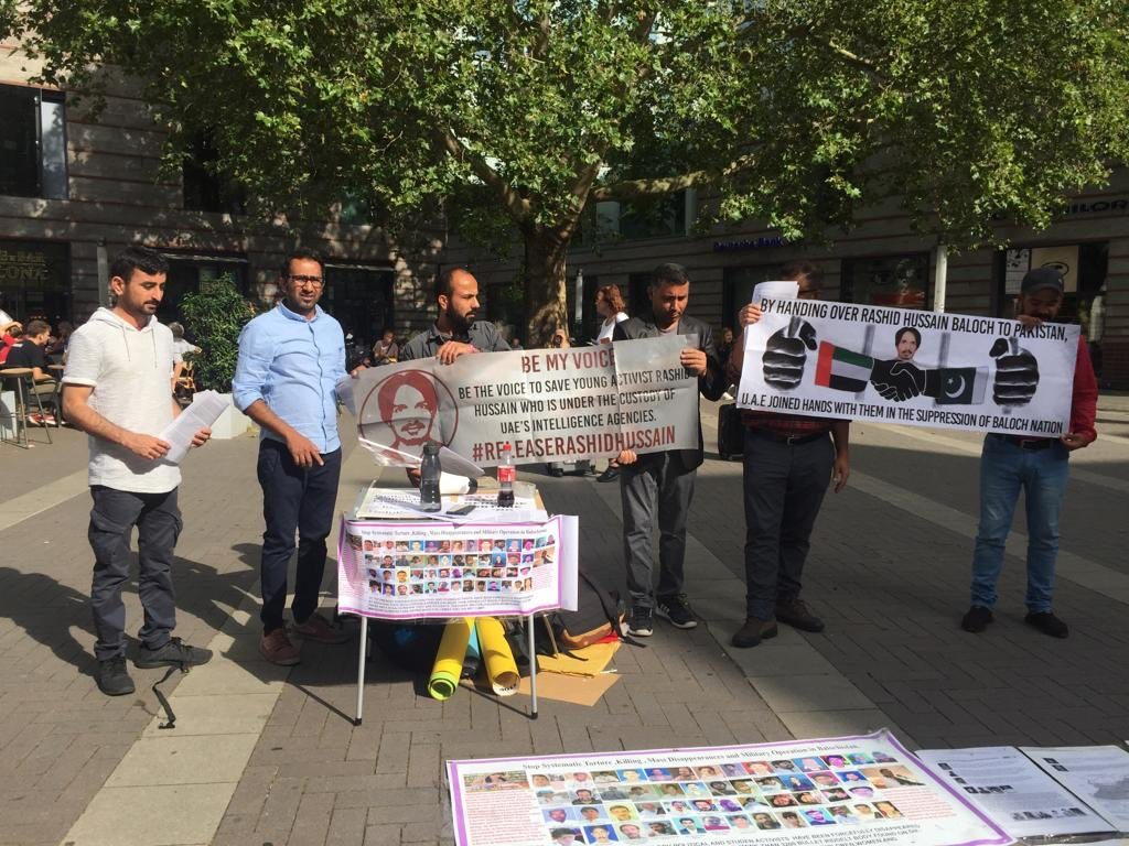 A Family Facing A State: BNM Germany Zone,(NRW) Unit  start the awareness campaign in Münster Germany on the occasion of #BalochistanDay, against of enforce disappearance in Balochistan & deportation of #RashidHussain