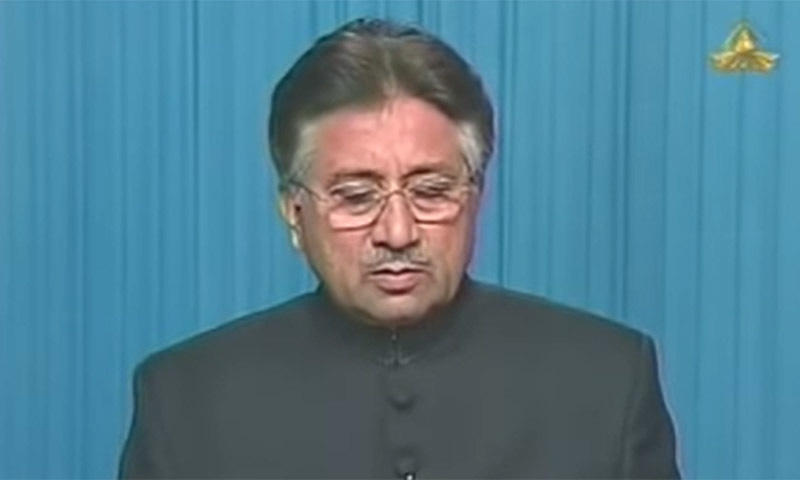 On November 3, 2007, Ex-Army Chief General Pervez Musharraf declares a state of emergency and suspends the 1973 Constitution. — Screengrab courtesy Al-Jazeera video