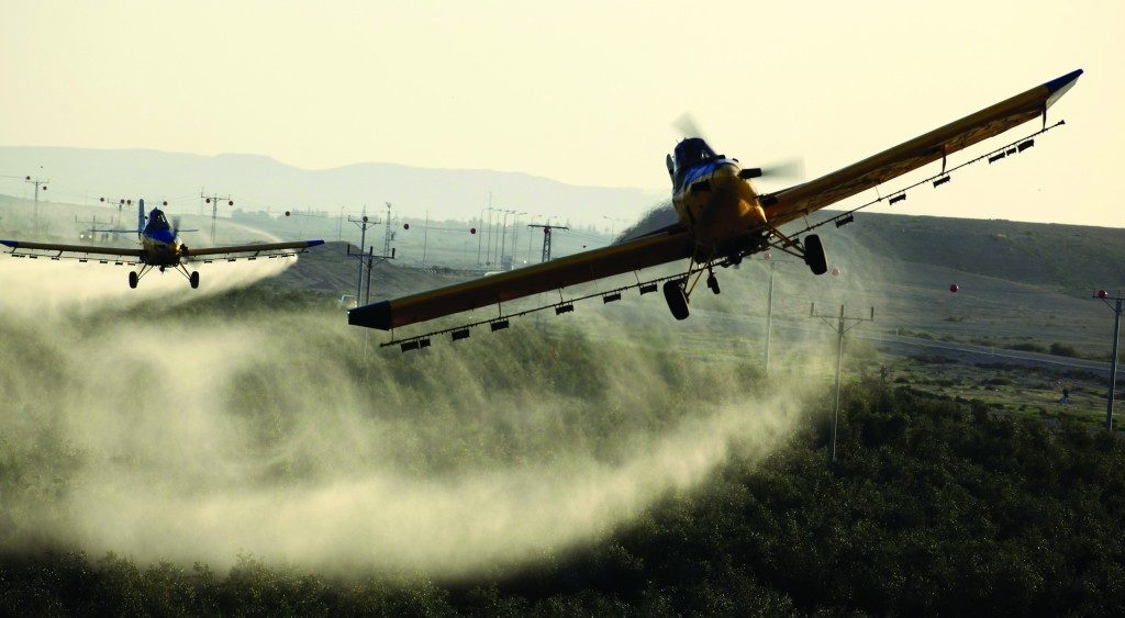Air crafts dumping large quantity of Insecticides
