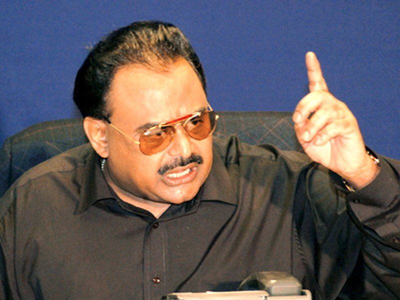 Leader of Mohajirs Altaf Hussain who is ready to take back Sindhu Mahadesh