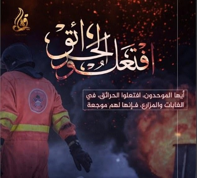 Forest Fire Jihad: Poster from Quraysh, an Islamic State mouthpiece, have encouraged supporters to 'ignite fires' in Forests as part of its jihad.