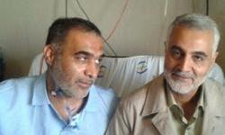 Soleimani's Curse: Soleimani, Mostafa Sadrzadeh (R) and IRGC commander Hossein Badpa, killed in Dara'a region on April 20, 2015
