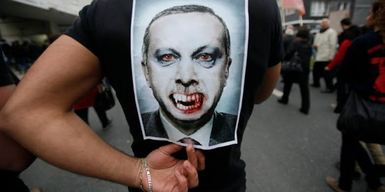 People compare Erdogan with Blood Sucking Vampire who has killed more Muslims than anyone else