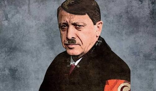 Similarities between Hitler and Erogan reflected in Erdogan's Imperialist Neo-Ottoman Empire dream