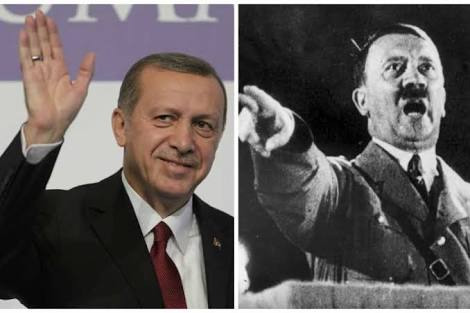 Similarities between Hitler and Erogan reflected in Erdogan's Imperialist Neo-Ottoman Empire dream