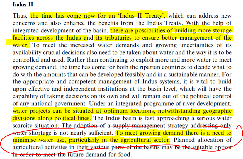 "Ashok's Proposal for a new Indus Treaty:  What Ashok is basically saying is ""Pakistan Must give up agriculture along its most fertile lands!"""