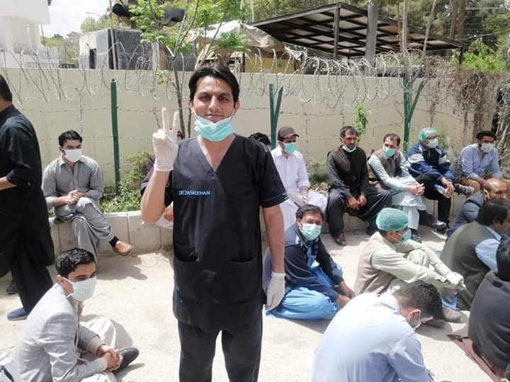 Pakistan is Purposely Spreading ChineseVirus in Balochistan: Doctors and Medical Staff sitting in protests demanding PPE and masks.