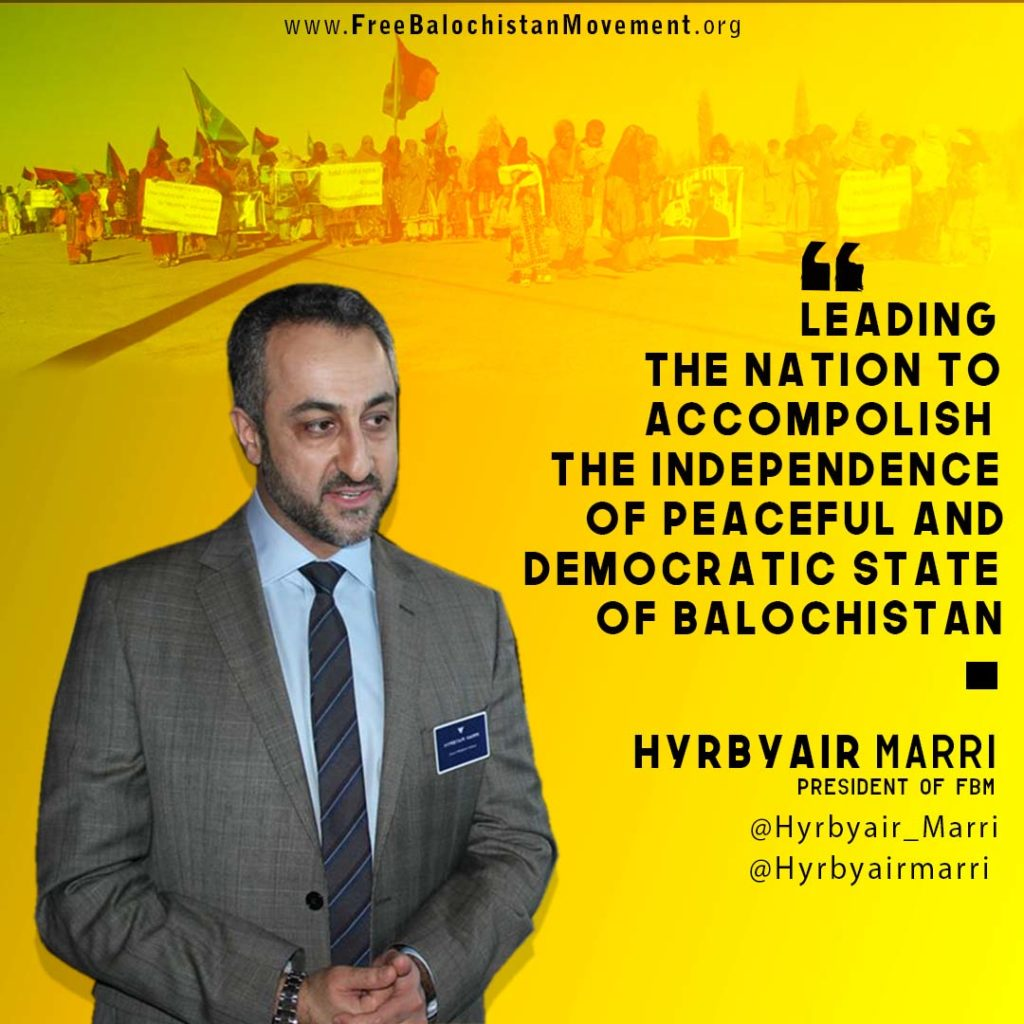 Baloch leader and President of Free Balochistan Movement Hyrbyair Marri in a statement said that Pakistan is Purposely Spreading ChineseVirus in Balochistan