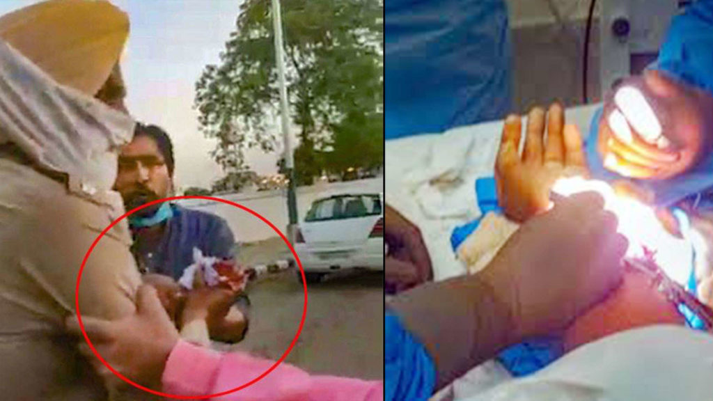 Pakistan using Chinese Virus COVID-19 as Bio-Weapon against India: Activates Proxies: Hand of an Indian Punjab Police officer was cut. He was operated successfully.