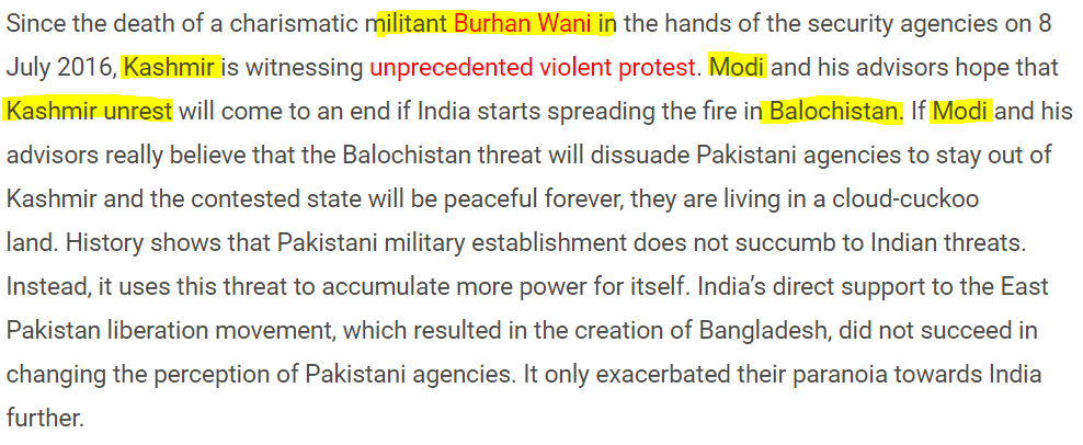 Ashok Swain the Muslim hating ISI's Concubine: Screenshot of the article which is exactly the same as Pakistan Intelligence Agency ISI Propaganda line.