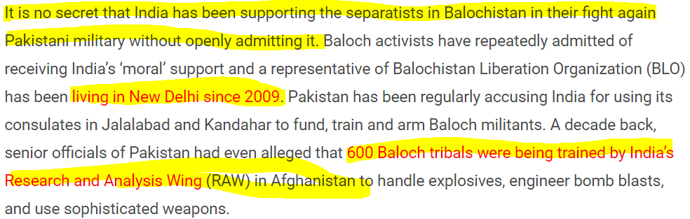 Ashok Swain the Muslim hating ISI's Concubine: Ashok claims India is supporting Freedom movement in Balochistan which is the same as Pakistan Intelligence Agency ISI propaganda line